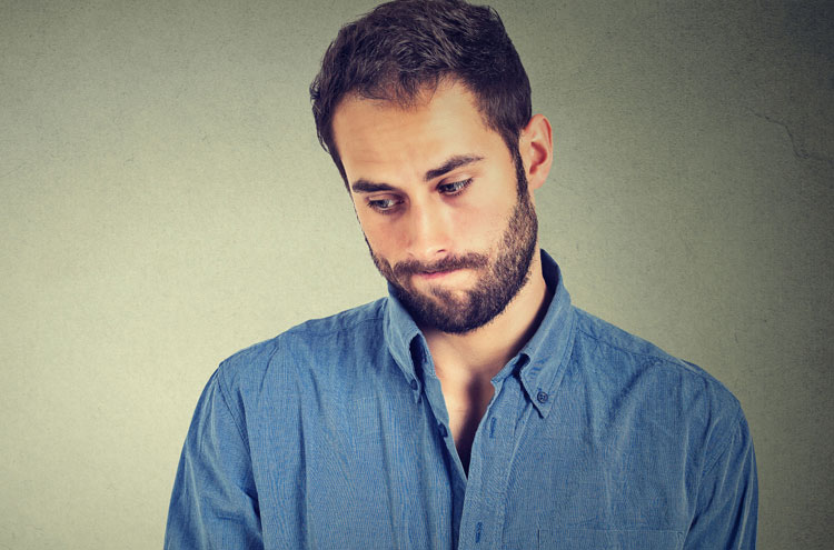 Man wondering if he's committed the unpardonable sin