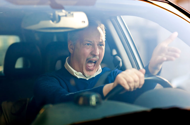 Man angry, shouting in car - Is anger as evil as murder?