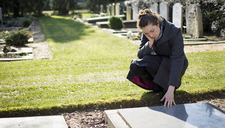Woman at graveside - What about cremation