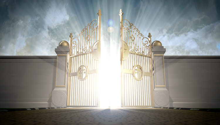 Picture of Heaven's pearly gates opening