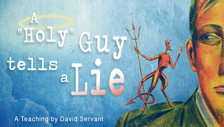 """Graphic with title of E-Teaching: A """"Holy"""" Guy Tells a Lie."""