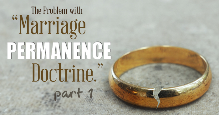 Picture of marriage permanence doctrine title and broken wedding ring