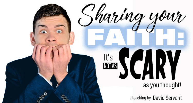 "E-Teaching Banner, ""Sharing Your Faith: It's Not as Scary as You Thought"""