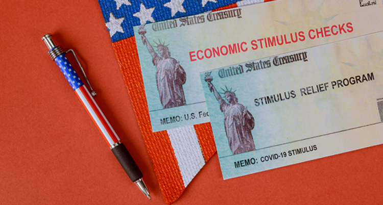 Picture of economic stimulus check relief program