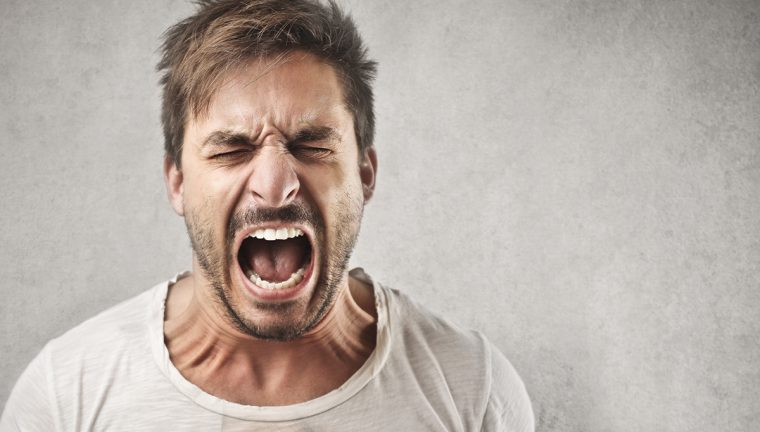 Picture of an angry person